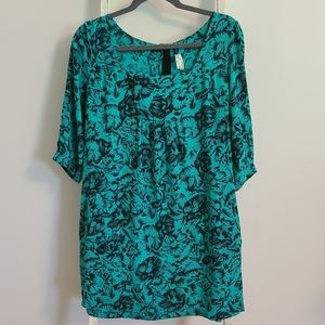 Maeve♡ Floral 3/4 sleeve tunic dress with pockets
